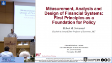Measurement, Analysis, And Design Of Financial System:First Principles as the Foundation for Policy