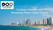 Graduation Ceremony 2016, International Master's Degree Program