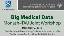 Big Medical Data: Workshop Joint TAU–Monash