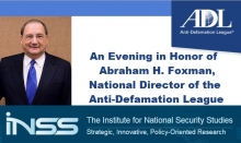 An Evening in Honor of Abraham H. Foxman, National Director of the Anti-Defamation League
