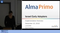 Israel Early Adopters: Implementation Overview (Part 1)