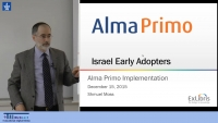 Israel Early Adopters: Alma Primo Implementation
