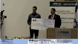 Announcement of winning startup and presentation of $100,000 US Defense Department Prize