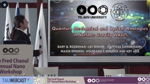 Quantum Mechanical and Optical Analogies in Surface Gravity Waves