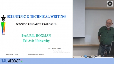 Writing a Winning Research Proposal