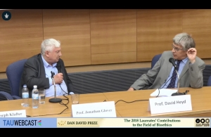 Prof. Jonathan Glover in Conversation with Prof. David Heyd