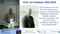 In memorial of Lev Fishelson