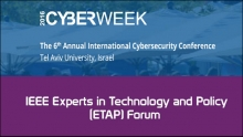 IEEE Experts in Technology and Policy (ETAP) Forum
